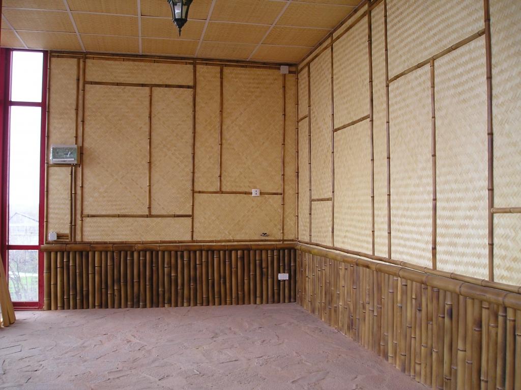 Бамбуковые плиты в интерьере - галерея - природные отделочны.